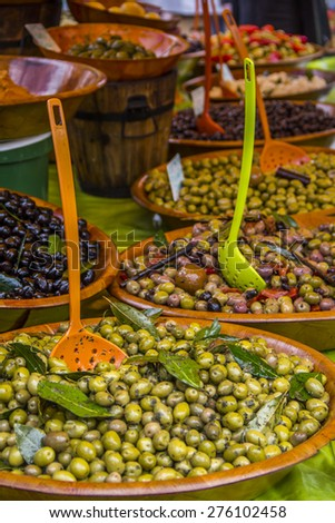 Olive marketplace  - stock photo
