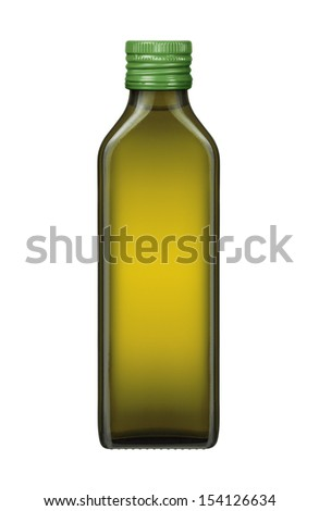 Olive oil bottle on a white background - stock photo