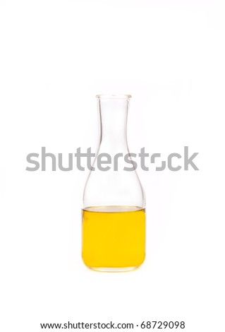 Olive oil bottle on a white background