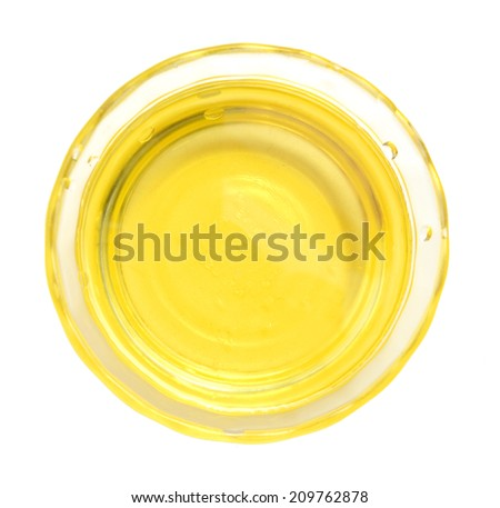 olive oil is on white background  - stock photo