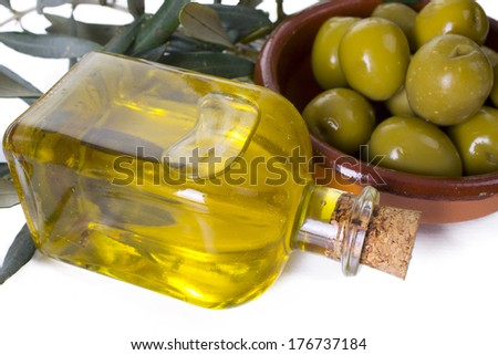 olive oil on background