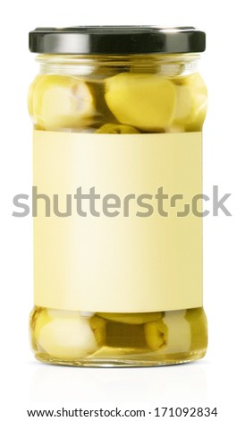 olive packaging - stock photo