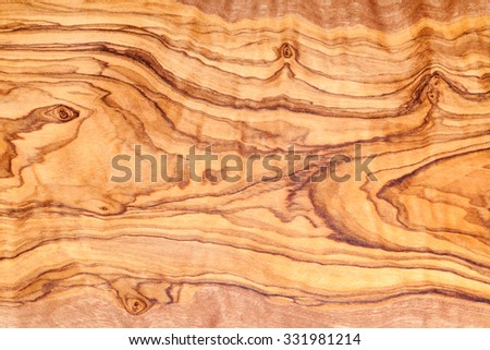 Olive tree wood slice with texture and details - stock photo