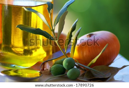Oliveoil and food ingredients.