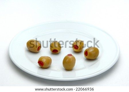 olives in plate