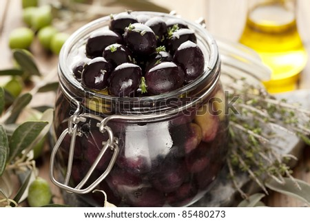 olives in the process of being pickled