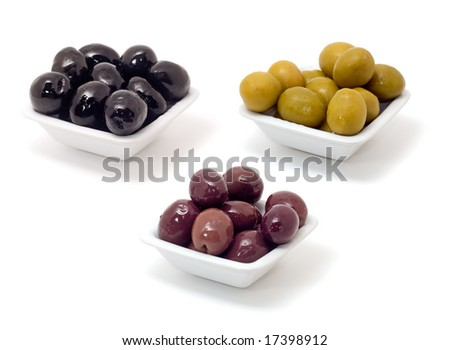Olives isolated on white
