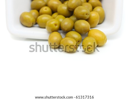 Olives on a plate.