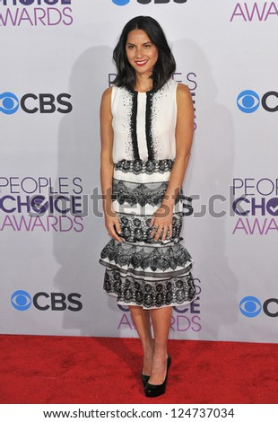 Olivia Munn at the People's Choice Awards 2013 at the Nokia Theatre L.A. Live. January 9, 2013  Los Angeles, CA Picture: Paul Smith
