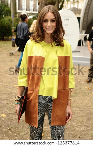 Olivia Palermo arriving at the Unique catwalk show as part of London Fashion Week SS13, Top Shop Venue, Bedford Square, London. 16/09/2012 Picture by: Steve Vas - stock photo