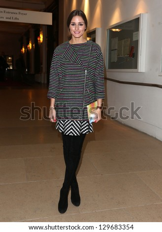 Olivia Palermo at Matthew Williamson, part of London Fashion Week, A/W 2013, London, England. 17/02/2013 Picture by: Henry Harris - stock photo