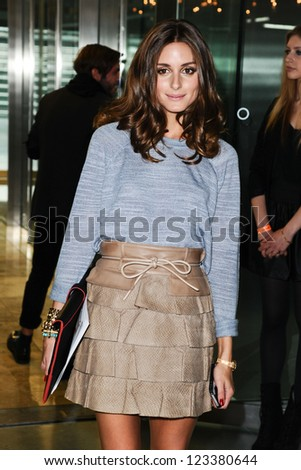 Olivia Palermo at the Matthew Williamson catwalk show as part of London Fashion Week SS13, Canon House, London.16/09/2012 Picture by: Steve Vas - stock photo