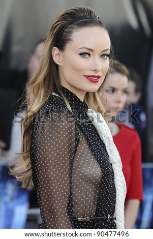 """Olivia Wilde arrives for the premiere of """"Cowboys and Aliens"""" at the 02 cineworld cinema, London. 11/08/2011 Picture by: Steve Vas / Featureflash - stock photo"""