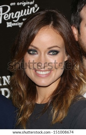 "Olivia Wilde at the ""Drinking Buddies"" Los Angeles Screening, Arclight, Hollywood, CA 08-15-13 - stock photo"