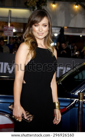 Olivia Wilde at the Los Angeles premiere of 'In Time' held at the Regency Village Theatre in Westwood on October 20, 2011.