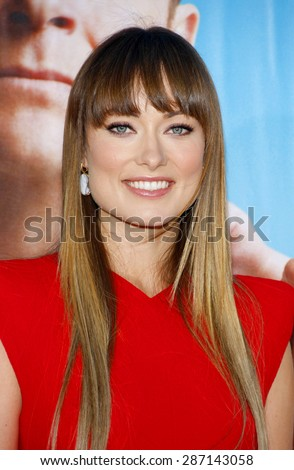 Olivia Wilde at the Los Angeles premiere of 'The Change-Up' held at the Regency Village Theatre in Westwood on August 1, 2011.  - stock photo