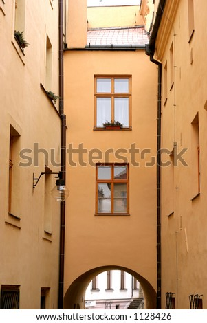 Olomouc, second oldest city in Czech republic. Old European houses, streets and square