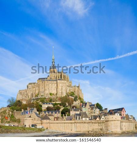 olt city of Mont Saint Michel,  France - stock photo
