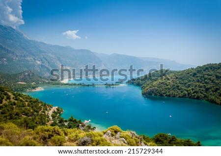Oludeniz bay - popular Turkish resort - stock photo