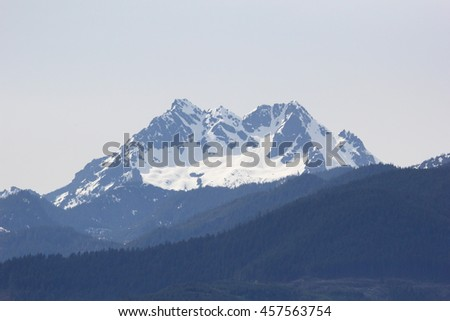 Olympic Mountains - stock photo