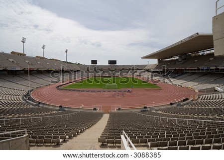 Olympic Stadium in Barcelona - stock photo