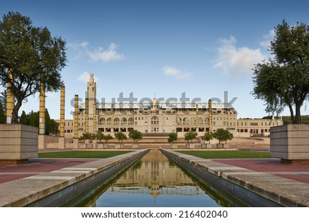 Olympic stadium in Montjuic Park, Barcelona, Spain - stock photo