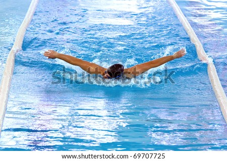 Olympic swimmer stock images royalty free images - Olympic swimming pool opening hours ...