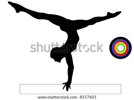 Olympics Gymnastics Balance Beam - stock photo
