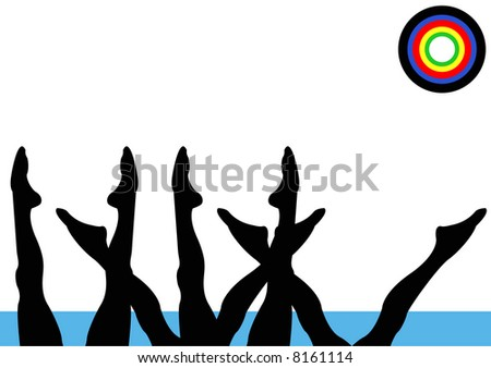 Olympics Synchronized Swimming Women Team - stock photo