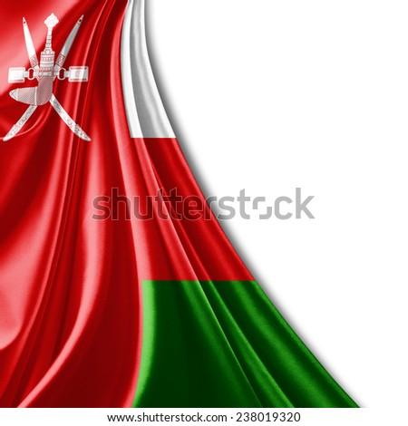 Oman flag and white background - stock photo