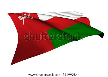 Oman flag - collection no_5  - stock photo