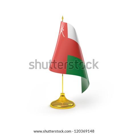 Oman Flag Detail Render - stock photo