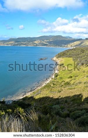 Omapere, New Zealand North Island  - stock photo