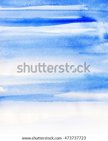 Blue Ombre Watercolor Background