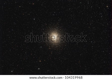 Omega Centauri or NGC 5139 is a globular cluster[9] in the constellation of Centaurus, discovered by Edmond Halley in 1677 - stock photo