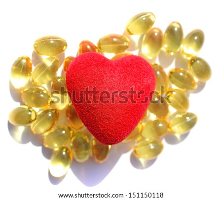 Omega 3 gift for the heart - stock photo