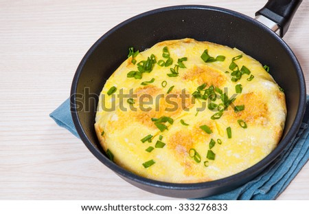 omelet in a frying pan