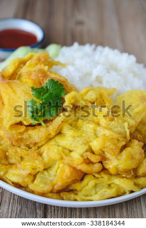 Omelet with Rice, Thai Food, This Cuisine, Thai easy lunch