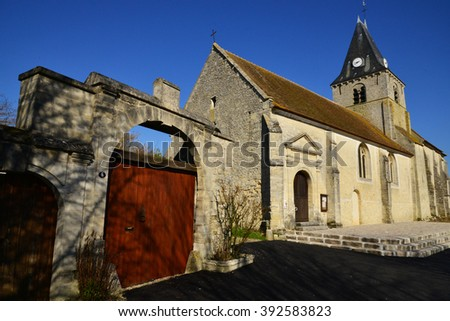 Omerville, France - february 29 2016 : the roman and gothic saint Martin church