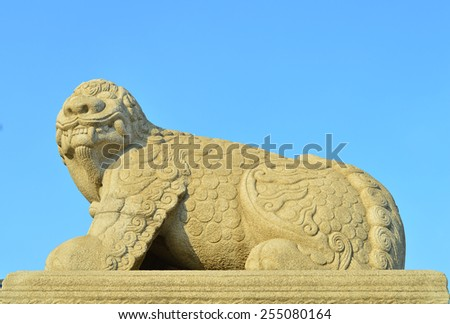Omniscient Mythical Beast of the palace-2 - stock photo