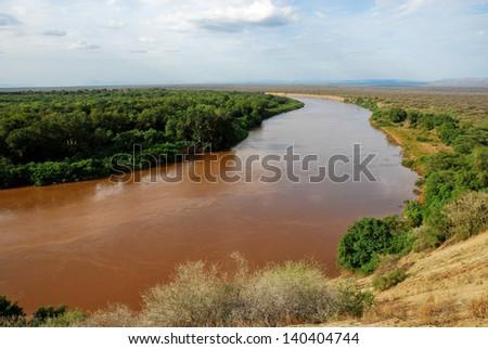 Omo river valley, Ethiopia - stock photo
