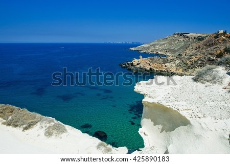 On a beautiful sunny day. Gozo Island, Malta.