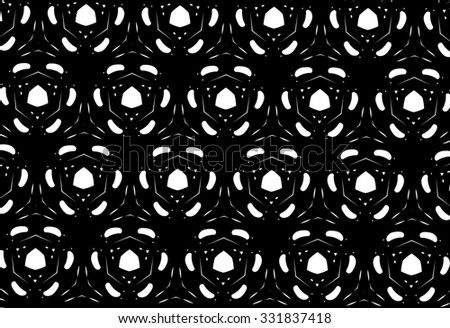 On a black background white patterns. V