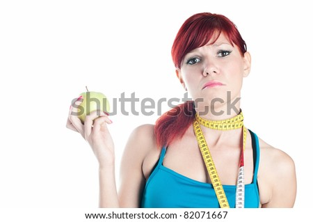 On a diet - stock photo
