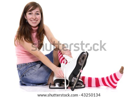On a skating rink - stock photo