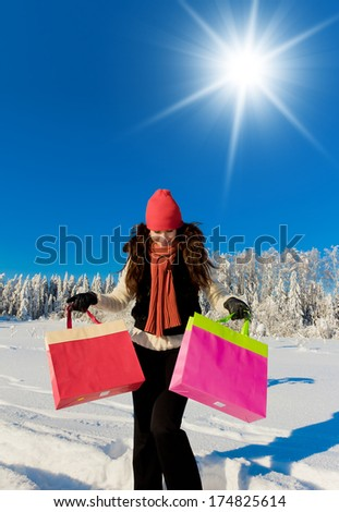 On a Sunny Day Outdoor Season Fashion  - stock photo