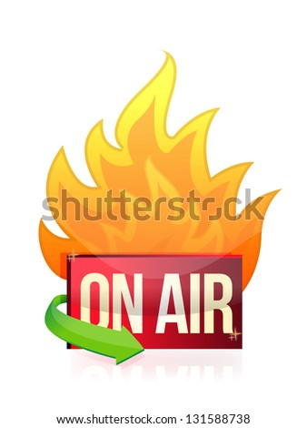 on air burning signal illustration design over a white background - stock photo