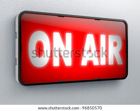 ON AIR Full collection of icons like that is in my portfolio - stock photo