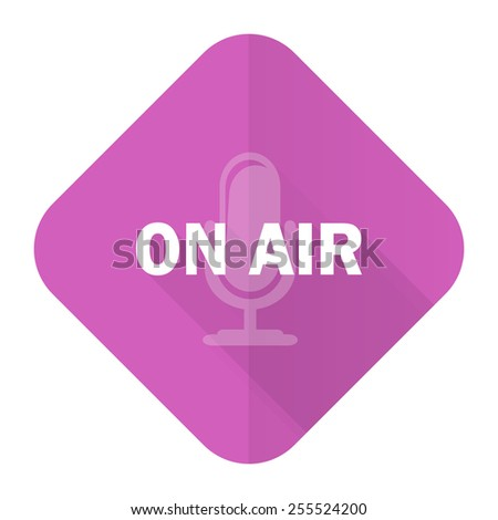 on air pink flat icon   - stock photo