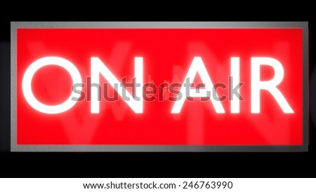 On Air Sign Red White - stock photo